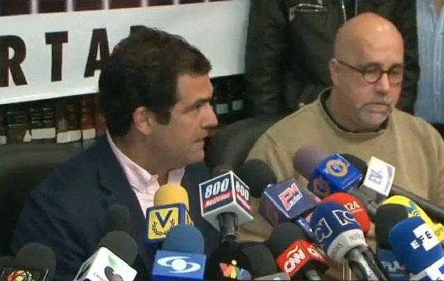 Alfredo Romero y Gonzalo Himiob del Foro Penal Venezolano / Foto captura tv