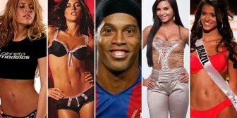 Las mujeres de Ronaldinho a lo largo de su carrera