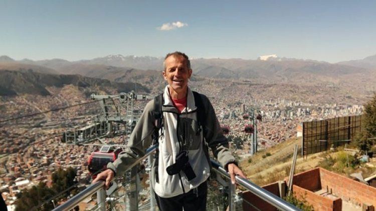 Wilhelm Wabnegg en La Paz, Bolivia, días antes de llegar a Paraguay