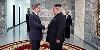Kim Jong-un y Moon Jae-in se reúnen por sorpresa de nuevo en Panmunjom