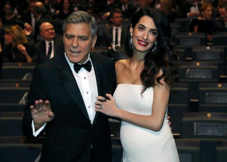 George Clooney y su esposa Amal