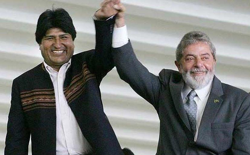 Evo Morales le brindó su respaldo a Lula da Silva (@evoespueblo)