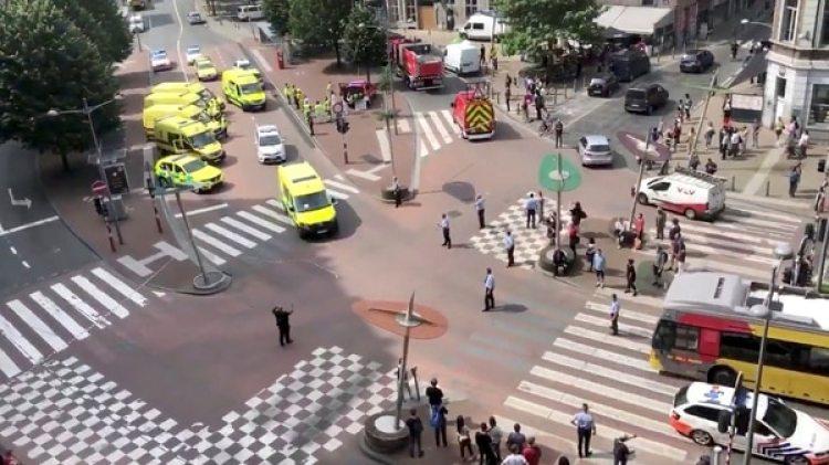 El atentado ocurrió en una de las avenidas principales de Lieja (Reuters)