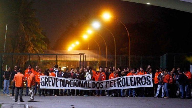 La huelga de los petroleros se inició en la madrugada de este miércoles (Gentileza O´globo)