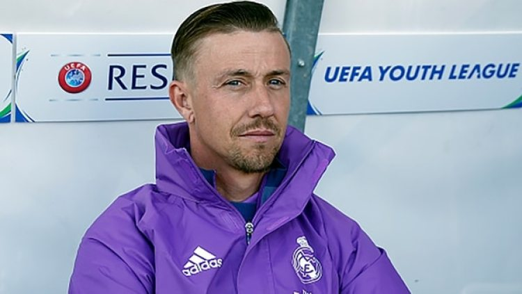 Guti, entrenador del Juvenil A del Real Madrid, aparece más atrás en la consideración (Getty Images)