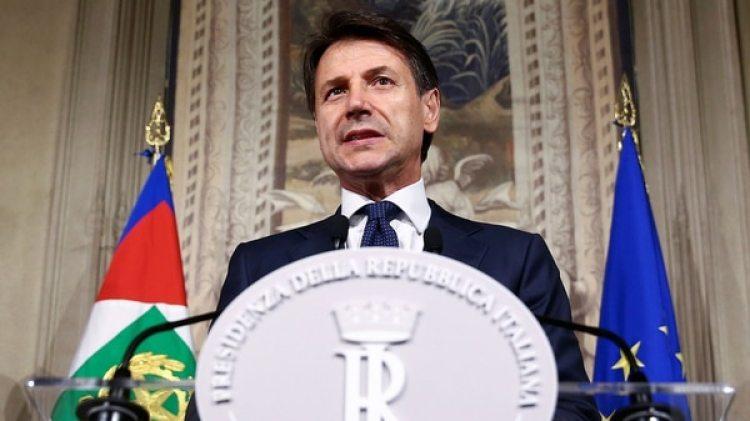 En conferencia de prensa, Giuseppe Conte presentó la lista de ministros (Reuters)