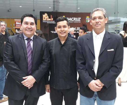 Germaín Caballero, Juan Mario Moreno y Javier Arze