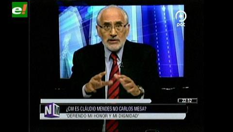 Carlos Mesa y su gestión de Gobierno: Estoy tranquilo porque lo que hicimos fue de manera correcta