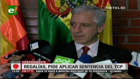 Vicepresidente pide a Santa Cruz y Chuquisaca a cumplir fallo del TCP sobre el Incahuasi