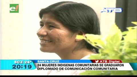 24 mujeres indígenas se graduaron en comunicación