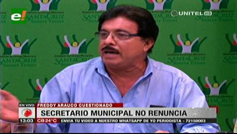 Arauco no renunciará y defiende legalidad de los contratos de la Alcaldía cruceña