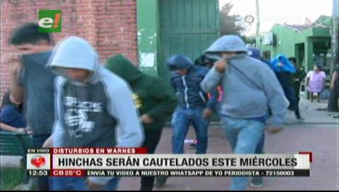 Fiscalía solicitará detención preventiva de los hinchas de Wilstermann