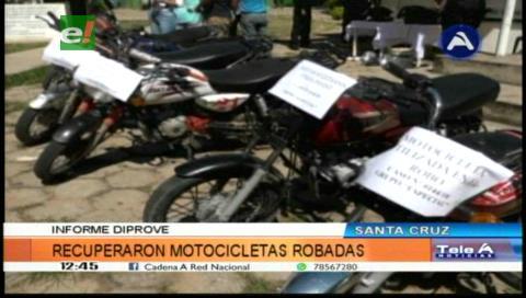 Diprove recupera cuatro motocicletas robadas, hay dos detenidos