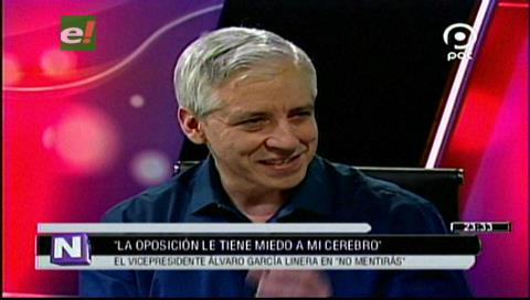"""García Linera: """"La oposición le tiene miedo a mi cerebro"""""""
