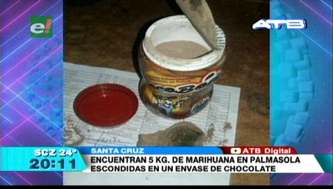 Hallaron 5 kilogramos de marihuana en Palmasola
