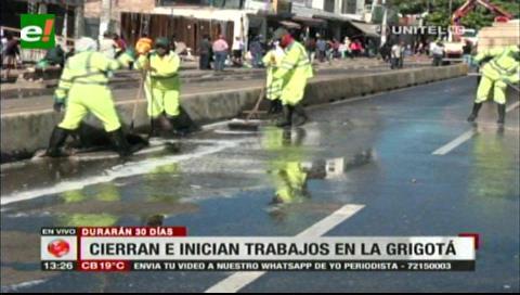 Santa Cruz: Inician trabajos en la avenida Grigotá