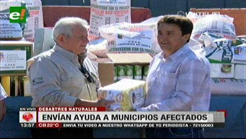 Gobernación cruceña envía alimentos y semillas para municipios afectados por desastres naturales