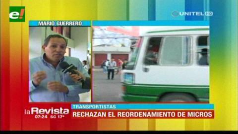Transporte responsabiliza a la Alcaldía cruceña por la falta de orden en su sector