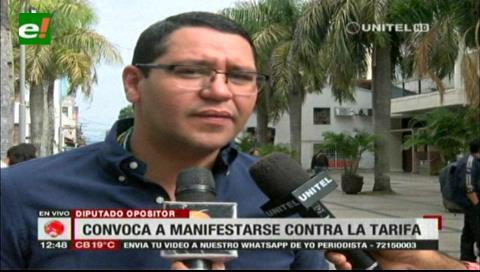 Diputado Monasterio pide a las instituciones manifestarse contra el alza a la tarifa eléctrica