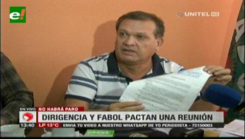 Fabol acuerda reunión con la FBF y da vía libre para que el fútbol no se paralice