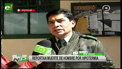 Policía reporta primer deceso por hipotermia en Potosí