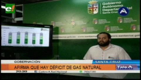 Gobernación cruceña advierte déficit de gas para cubrir demanda interna y externa