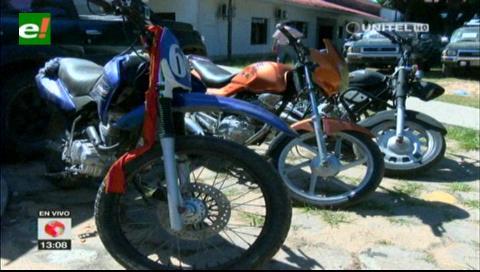 Diprove recupera 8 motocicletas robadas
