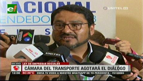 Cámara de Transporte buscará el diálogo antes de movilizarse por ley de empresas