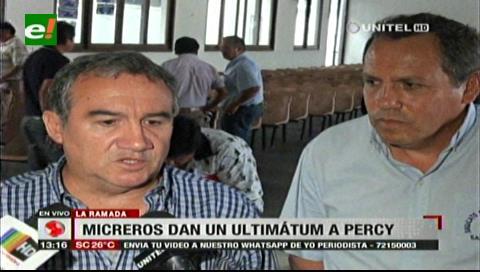 Transporte público le da un ultimátum a Percy Fernández