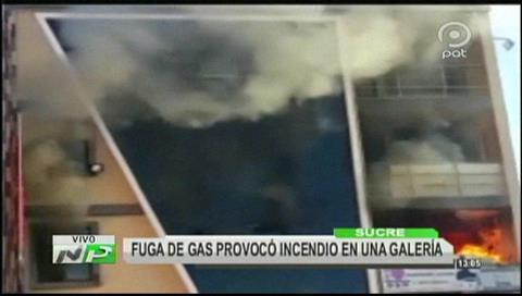Sucre: Incendio en galería del mercado campesino deja daños materiales