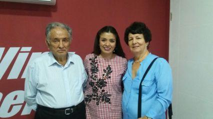 Javier Poveda, Carolina Noya y Aida Viera
