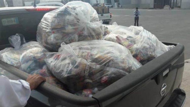 """Las bolsas de víveres llevaban la etiqueta del programa social oficial """"Genera"""""""