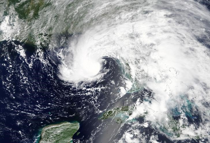 La tormenta subtropical Alberto es fotografiada cerca de Florida Panhandle por la NASA del 27 de mayo de 2018. NASA / Folleto a través de REUTERS ATENCIÓN EDITORES - ESTA IMAGEN FUE PROPORCIONADA POR UN TERCERO.