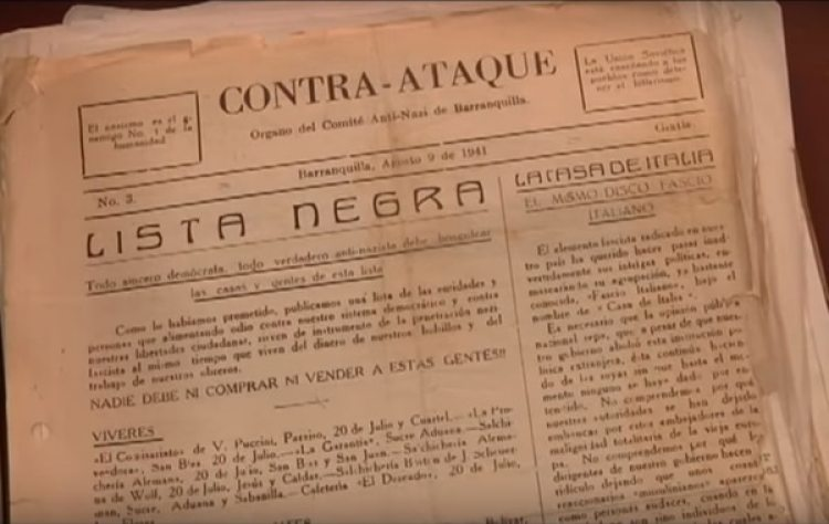 Lista negra conservada en el Archivo General de la Nación.