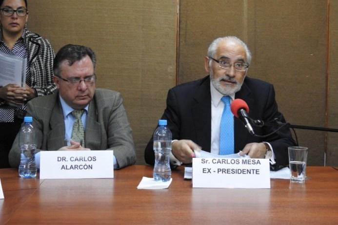 Resultado de imagen para Carlos Alarcon y Carlos Mesa