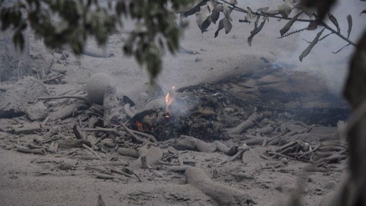 Nuevos cuerpos se hallaron entre los escombros de la comunidad de San Miguel Los Lotes, en el departamento sureño de Escuintla, que quedó soterrada bajo miles de toneladas de material volcánico