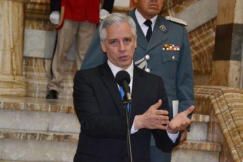 El vicepresidente del Estado, Álvaro García, en la conferencia de este miércoles.