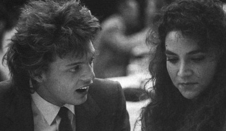 Luis Miguel y Mariana Yazbek en 1987, cuando eran pareja