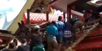 Indonesia: Sujeto murió aplastado por el ataúd de su madre