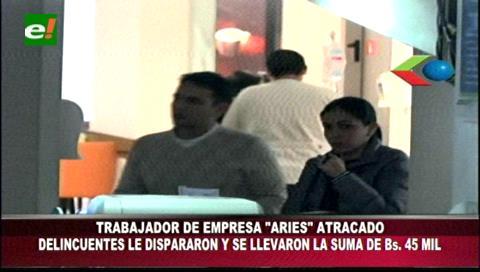 Santa Cruz: Dispararon a mensajero para quitarle Bs 45 mil