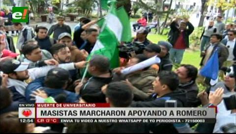 Masistas y plataformas tuvieron amagues de enfrentamientos en la plaza 24 de Septiembre
