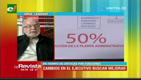 Alcaldía cruceña disminuye en un 50% personal encargado de las secretarías