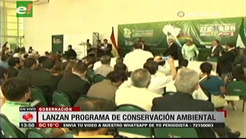Gobernación cruceña y la UE presentarán programa de desarrollo sostenible para conservar espacios naturales
