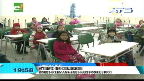 Registran ausentismo de alumnos en unidades educativas debido al intenso frío