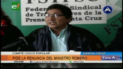 Comité Popular pide la renuncia de Carlos Romero