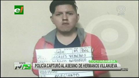 """Cochabamba: Atrapan a """"El Polaco"""" acusado de matar a dos hermanos"""
