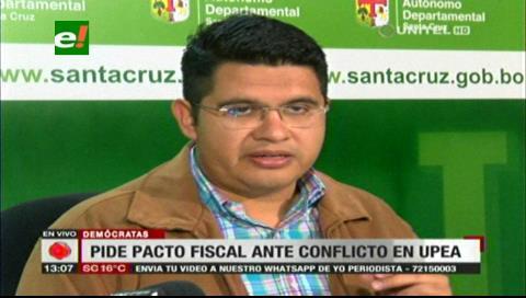 Gobernación cruceña exige al Gobierno cumplir el Pacto Fiscal y mayores recursos para las universidades