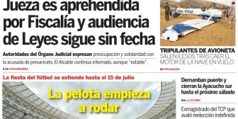 Portadas de periódicos de Bolivia del jueves 14 de junio de 2018
