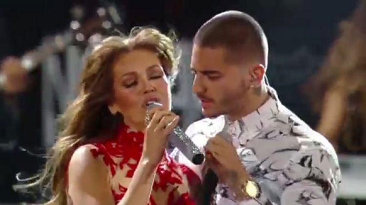 Maluma confesó que Thalía era su amor platónico de la infancia