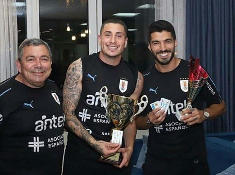Luis Suárez y Josema Giménez fueron los campeones de truco en Uruguay (Twiiter)